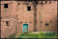 Old adobe walls. Taos, New Mexico, USA