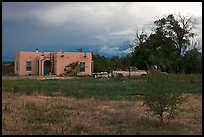 Adobe house on the reservation. Taos, New Mexico, USA
