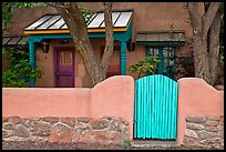 Residential front yard. Taos, New Mexico, USA (color)
