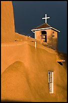 San Francisco de Asisis church under stormy sky. Taos, New Mexico, USA ( color)
