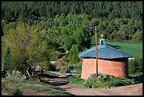 Village church. New Mexico, USA (color)