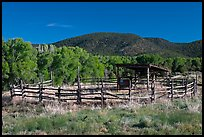 Cattle enclosure, Picuris Pueblo. New Mexico, USA