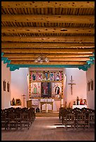 Inside of Picuris Church, Picuris Pueblo. New Mexico, USA ( color)