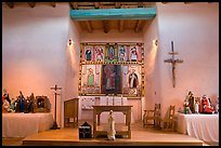 Altar, San Lorenzo Church, Picuris Pueblo. New Mexico, USA ( color)