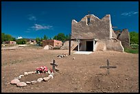 Graves and Picuris Church, Picuris Pueblo. New Mexico, USA ( color)