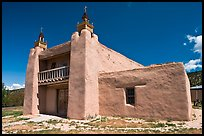 San Jose de Gracia De Las Trampas Church. New Mexico, USA (color)
