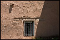 Wall and window detail, San Jose de Gracia Church. New Mexico, USA (color)