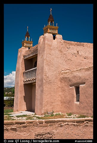 San Jose de Gracia adobe church. New Mexico, USA (color)