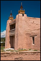 San Jose de Gracia adobe church. New Mexico, USA ( color)