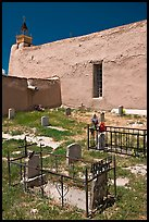 Cemetery, San Jose de Gracia church. New Mexico, USA ( color)