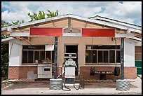 Gas station, Truchas. New Mexico, USA ( color)