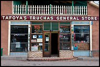 Facade of Tafoya Truchas genereal store. New Mexico, USA ( color)