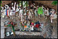 Niche with rosaries, Sanctuario de Chimayo. New Mexico, USA (color)