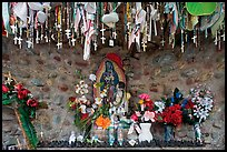 Niche with popular worship objects, Sanctuario de Chimayo. New Mexico, USA