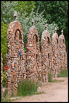 Row of crosses, Sanctuario de Chimayo. New Mexico, USA (color)