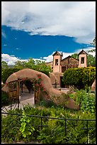 Grounds and shrine, Sanctuario de Chimayo. New Mexico, USA