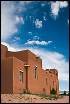 Modern church in adobe style. New Mexico, USA ( color)