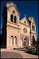 Cathedral Basilica of St Francis de Assisi. Santa Fe, New Mexico, USA ( color)