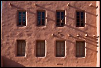 Detail of architecture in pueblo style, American Indian art museum. Santa Fe, New Mexico, USA ( color)