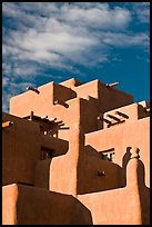 Loreto Inn in pueblo architectural style. Santa Fe, New Mexico, USA (color)