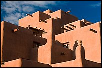 Pueblo style Loreto Inn. Santa Fe, New Mexico, USA ( color)
