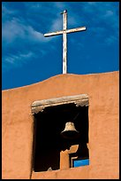 Bell tower, Chapel de San Miguel. Santa Fe, New Mexico, USA (color)