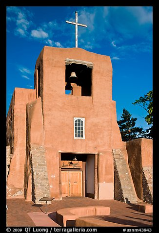Chapel  San Miguel, oldest church in the US. Santa Fe, New Mexico, USA