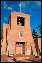 Chapel  San Miguel, oldest church in the US. Santa Fe, New Mexico, USA (color)