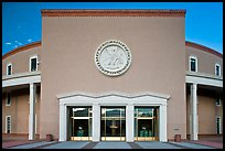 West entrance of New state Mexico Capitol. Santa Fe, New Mexico, USA ( color)