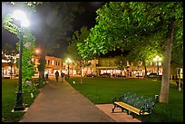 Plazza by night. Santa Fe, New Mexico, USA
