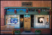 Canyon Road fine art gallery storefront,. Santa Fe, New Mexico, USA ( color)