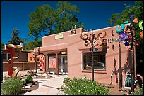 Art gallery and modern sculptures. Santa Fe, New Mexico, USA ( color)