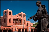 Statue and Institute of American Indian arts museum. Santa Fe, New Mexico, USA ( color)