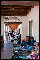 Native americans selling arts and crafts. Santa Fe, New Mexico, USA ( color)