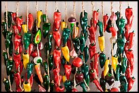 Ceramic peppers for sale. Santa Fe, New Mexico, USA ( color)