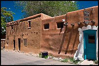 Oldest house in America. Santa Fe, New Mexico, USA ( color)