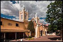 Old town plaza and San Felipe de Neri Church. Albuquerque, New Mexico, USA ( color)