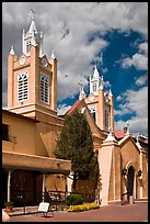 Historic San Felipe de Neri Church on plaza. Albuquerque, New Mexico, USA ( color)
