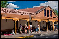 Arcade with craft sellers, old town plazza. Albuquerque, New Mexico, USA ( color)