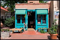 Blue store, old town. Albuquerque, New Mexico, USA (color)