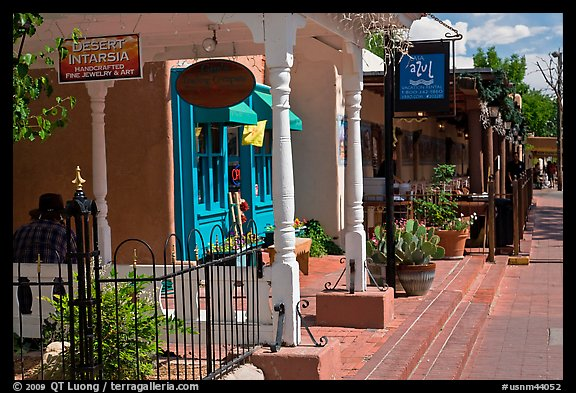 Stores, old town. Albuquerque, New Mexico, USA (color)