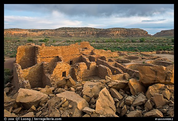 Great house, Pueblo Bonito. Chaco Culture National Historic Park, New Mexico, USA