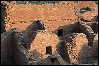 Interconnected rooms, Pueblo Bonito. Chaco Culture National Historic Park, New Mexico, USA (color)