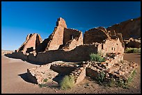Pueblo Bonito, early morning. Chaco Culture National Historic Park, New Mexico, USA ( color)