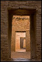 Chaco doorways. Chaco Culture National Historic Park, New Mexico, USA (color)