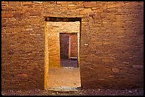 Aligned doorways. Chaco Culture National Historic Park, New Mexico, USA (color)
