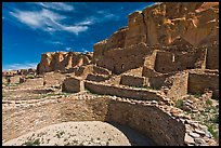Ancient pueblo. Chaco Culture National Historic Park, New Mexico, USA ( color)