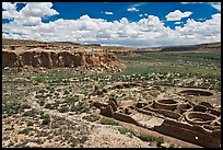 Chetro Ketl and Chaco Canyon. Chaco Culture National Historic Park, New Mexico, USA (color)