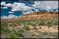 Rim cliffs and clouds. Chaco Culture National Historic Park, New Mexico, USA