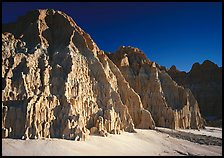 Cathedral-like spires and buttresses, Cathedral Gorge State Park. Nevada, USA
